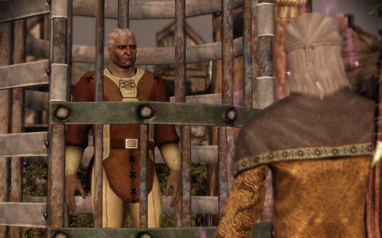 Un homme, dans une cage